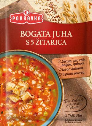 Bogata juha s 5 žitarica