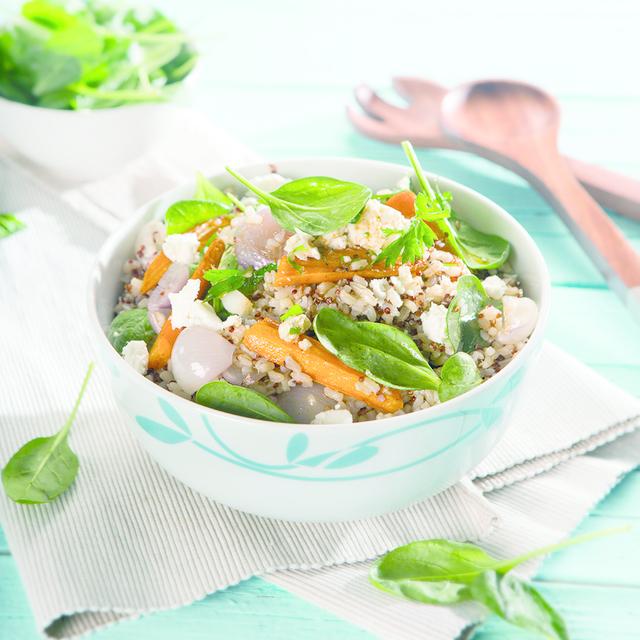 Salata 3 žitarice s mrkvom i fetom_Coolinarika