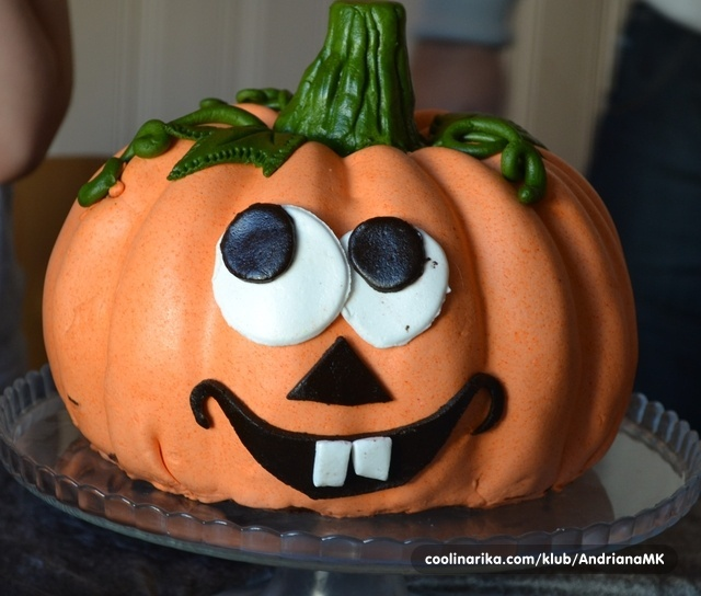 Halloween cokoladna torta
