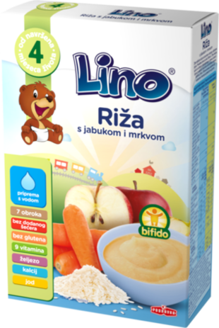 Lino riža s jabukom i mrkvom