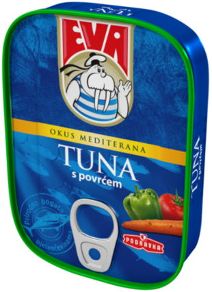 Eva Tuna s povrćem