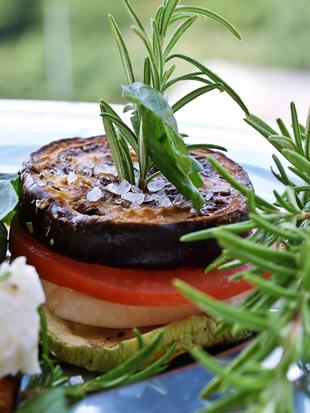 ღ Grillane balancane & tikvice s pomidorom mozzarelom