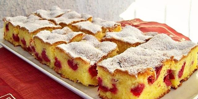 Žuti kolač s višnjama - SnezanaBG                     išnjama 11