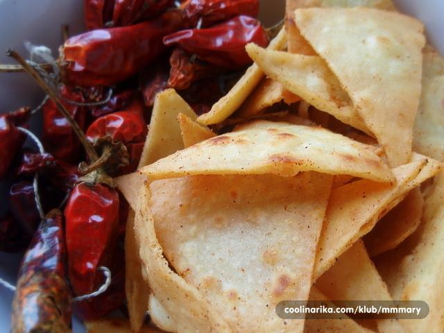 Home-made tortilla chips