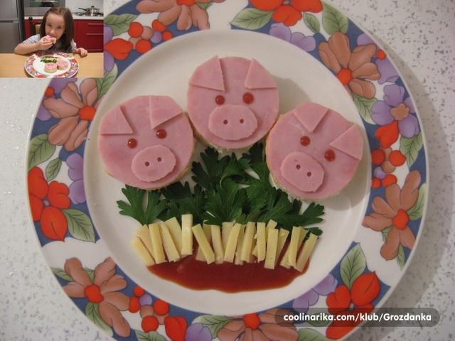 """sendviči za dječji rođendan Sendvici """"Tri praseta"""" — Coolinarika sendviči za dječji rođendan"""