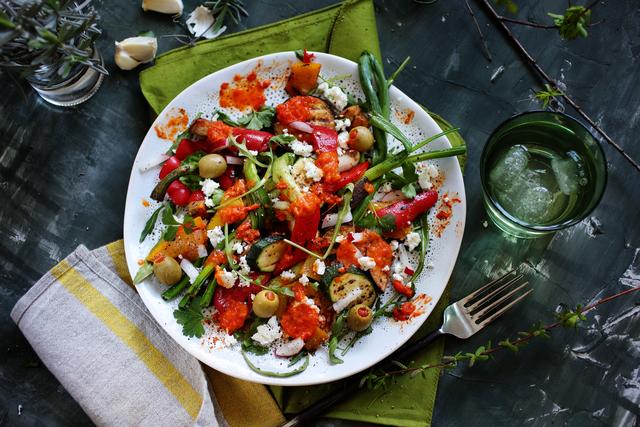 Grill povrće na salatu1