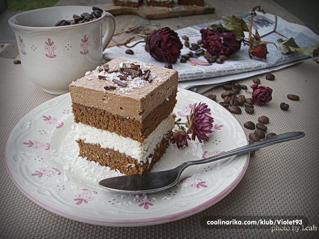 Coconut coffee cream kocke